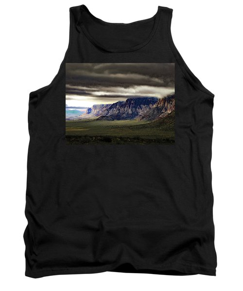 Stormy Morning In Red Rock Canyon Tank Top by Alan Socolik