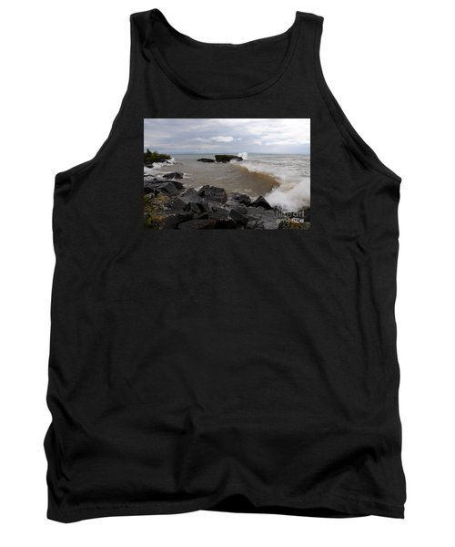 Tank Top featuring the photograph Stormy Superior Morning by Sandra Updyke
