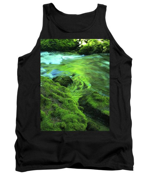 Stream Above Whitehorse Falls Tank Top
