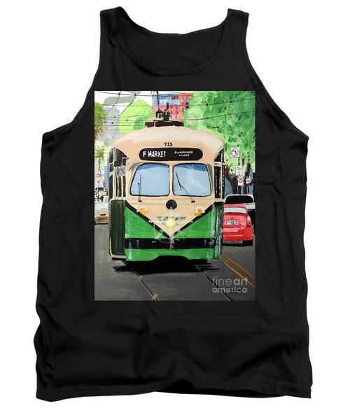 Tank Top featuring the painting Streetcar Not Named Desire by Tom Riggs