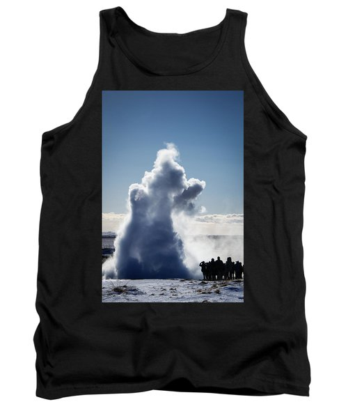 Tank Top featuring the photograph Strokkur Geyser In Iceland by Matthias Hauser