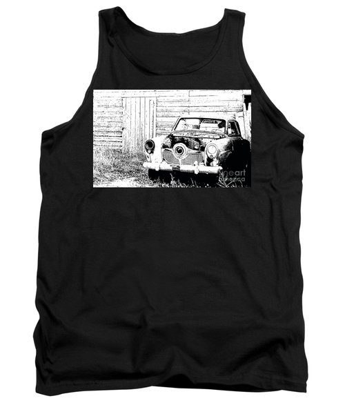Studebaker Black And White Tank Top by Renie Rutten