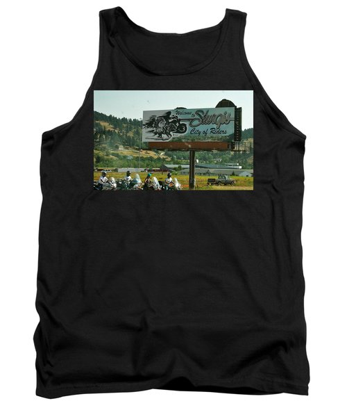 Sturgis City Of Riders Tank Top by Anna Ruzsan