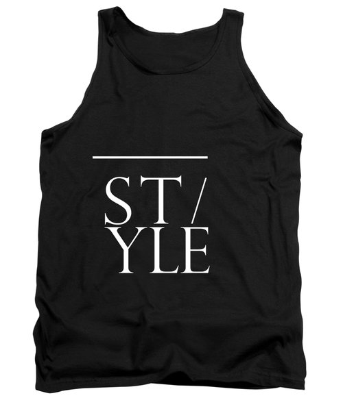 Style 1 - Minimalist Print - Typography - Quote Poster Tank Top