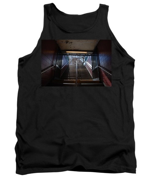 Tank Top featuring the photograph Subway Stairs To Freedom by Rob Hans