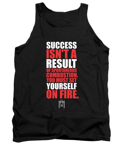 Success Is Not A Result Gym Motivational Quotes Poster Tank Top