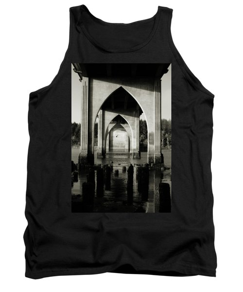 Suislaw River Bridge In Florence Oregon Tank Top