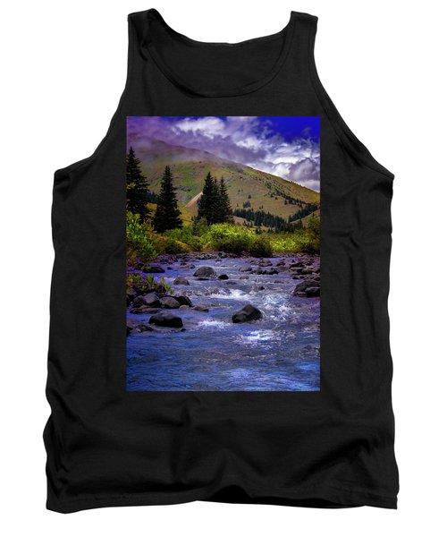 Tank Top featuring the photograph Summer At The Animas River by Ellen Heaverlo