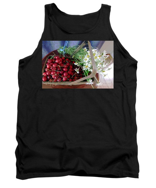 Tank Top featuring the photograph Summer Basket by Vicky Tarcau