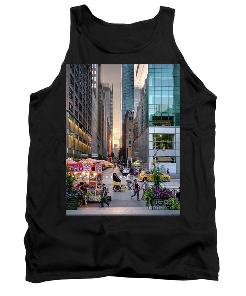Summer Evening, New York City  -17705-17711 Tank Top by John Bald