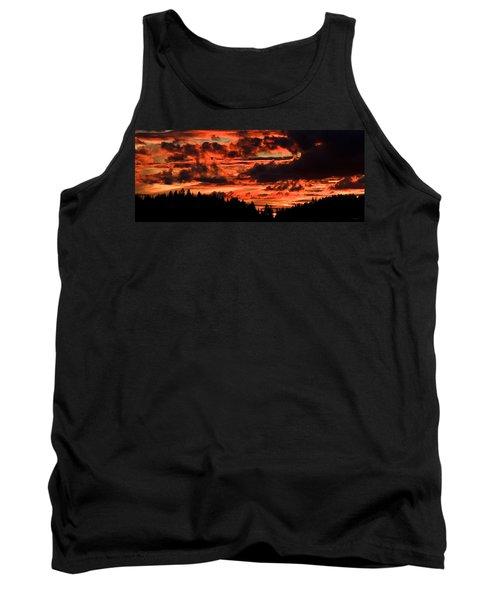 Summer's Crimson Fire Tank Top