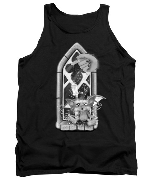 Summoned Pet - Black And White Fantasy Art Tank Top