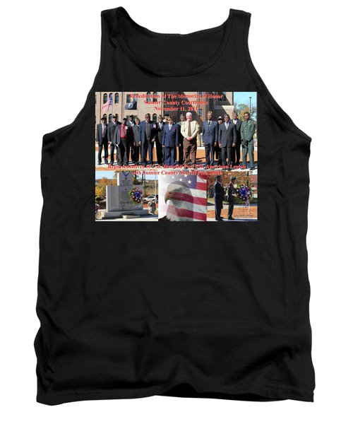 Tank Top featuring the photograph Sumter County Memorial Of Honor by Jerry Battle