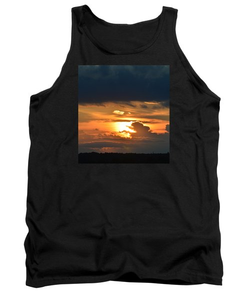 Tank Top featuring the photograph Sun And Dark Clouds  by Lyle Crump