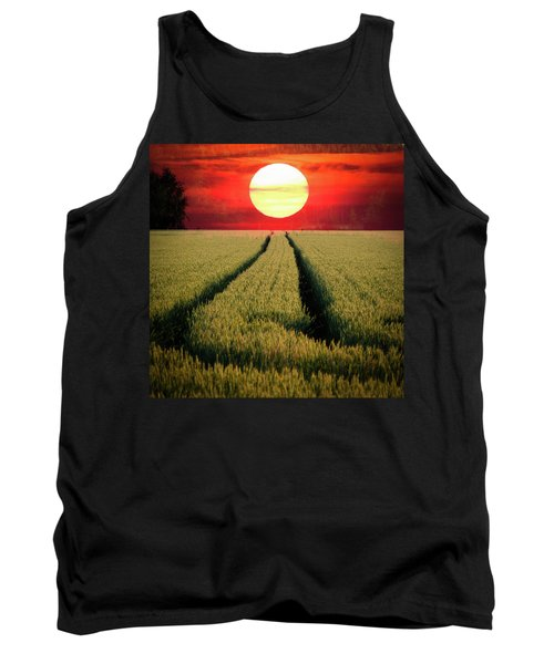 Sun Burn Tank Top by Teemu Tretjakov