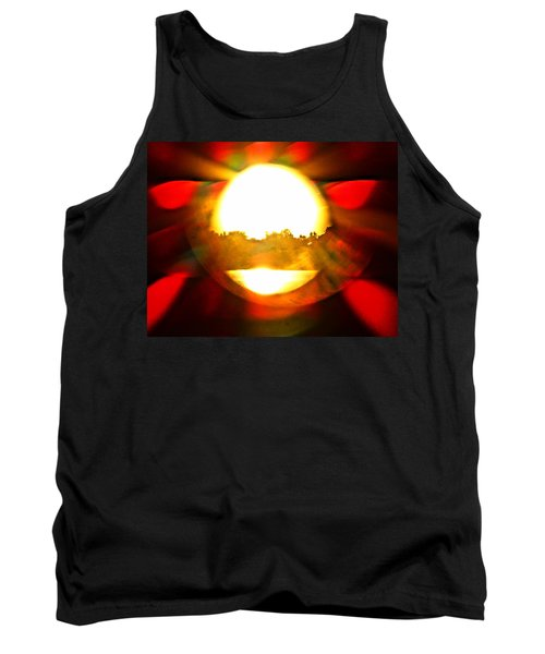 Tank Top featuring the photograph Sun Burst by Eric Dee