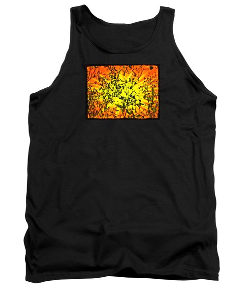 Tank Top featuring the photograph Sun Dappled Leaves by Robin Regan
