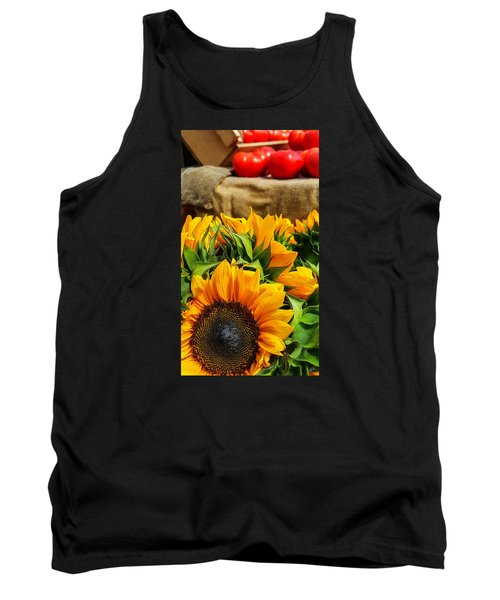 Sun Flowers And Tomatoes Tank Top by Bruce Carpenter