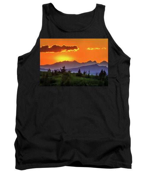 Tank Top featuring the painting Sun Rising by Harry Warrick