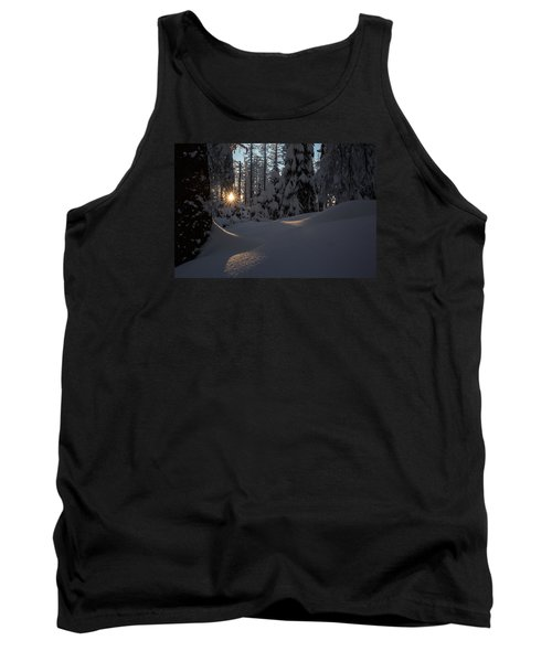 Sunburst In Winter Fairytale Forest Harz Tank Top by Andreas Levi