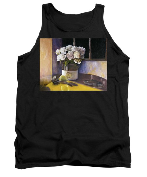 Sunday Morning And Roses Redux Tank Top by Marlene Book