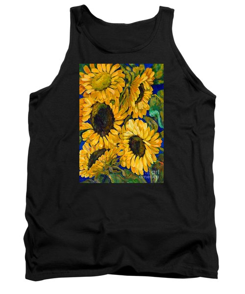 Sunflower Faces Tank Top