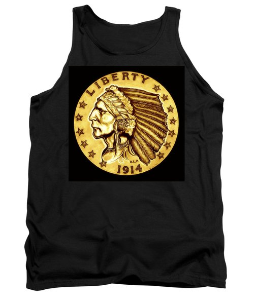 Sunflower Gold Quarter Eagle Tank Top by Fred Larucci
