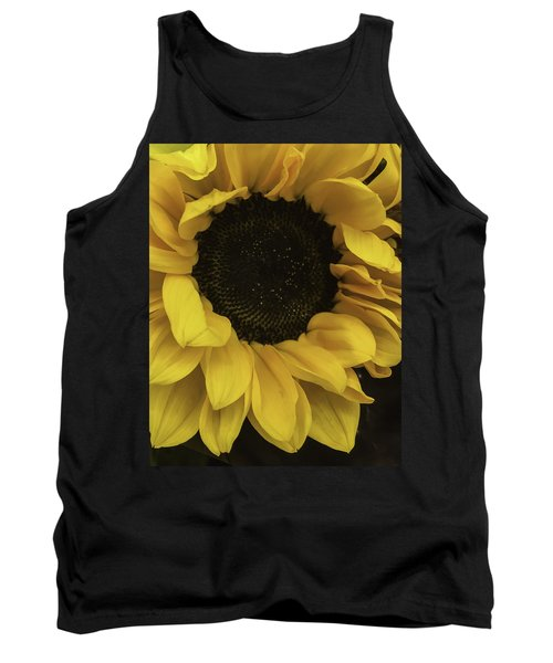 Sunflower Up Close Tank Top by Arlene Carmel
