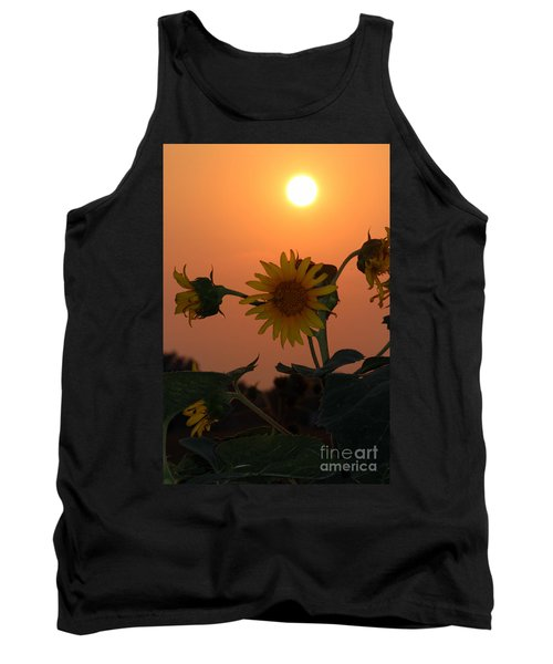 Sunflowers At Sunset Tank Top