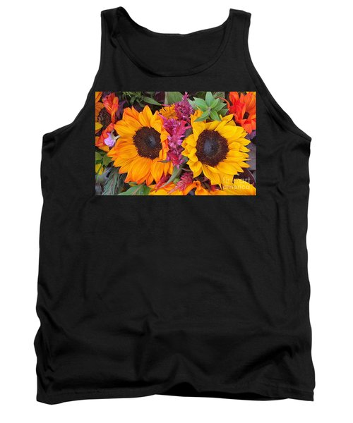Sunflowers Eyes Tank Top by Jasna Gopic