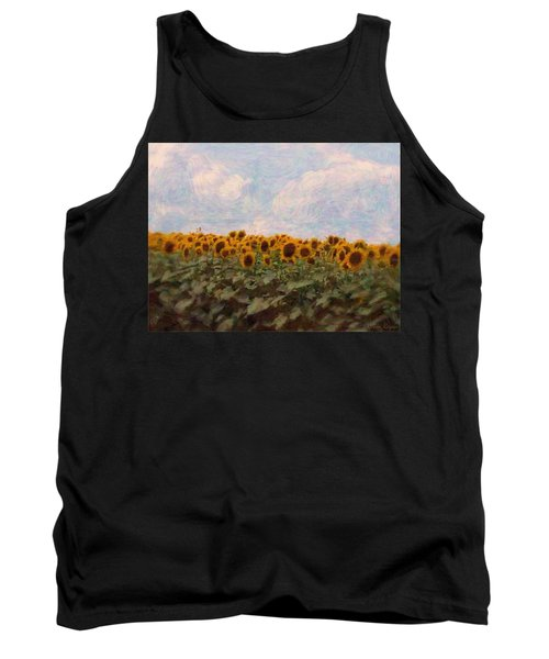 Tank Top featuring the photograph Sunflowers by Robin Regan