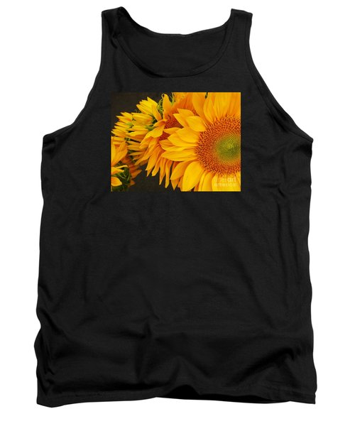 Sunflowers Train Tank Top by Jasna Gopic
