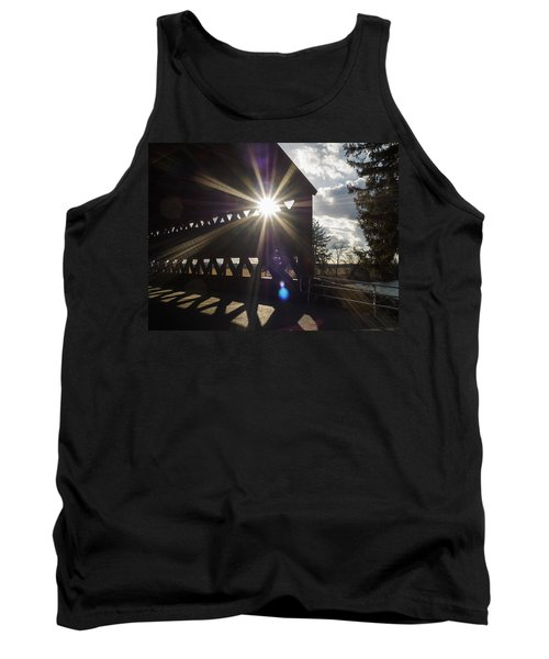 Sunlight Through Sachs Covered Bridge  Tank Top