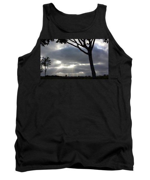 Sunlit Gray Clouds At Otay Ranch Tank Top