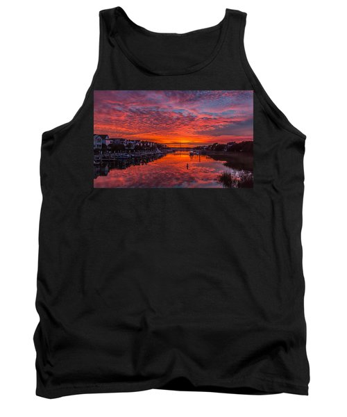 Sunlit Sky Over Morgan Creek -  Wild Dunes On The Isle Of Palms Tank Top