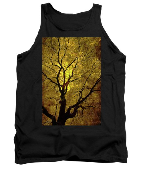 Sunny Branches Tank Top by Gray  Artus
