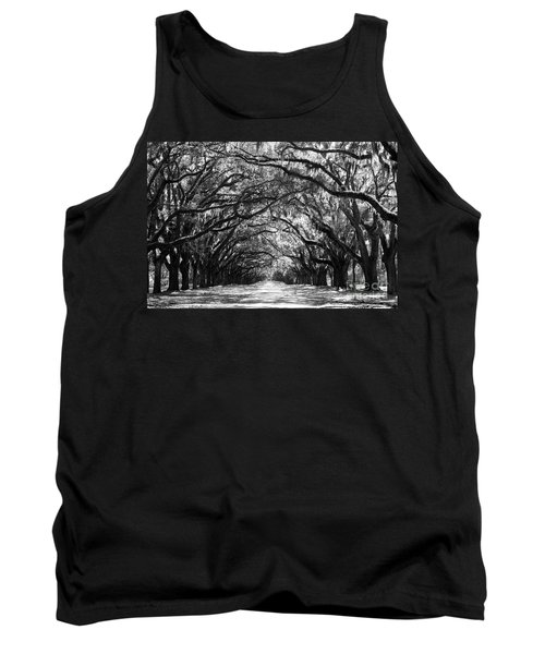 Sunny Southern Day - Black And White Tank Top