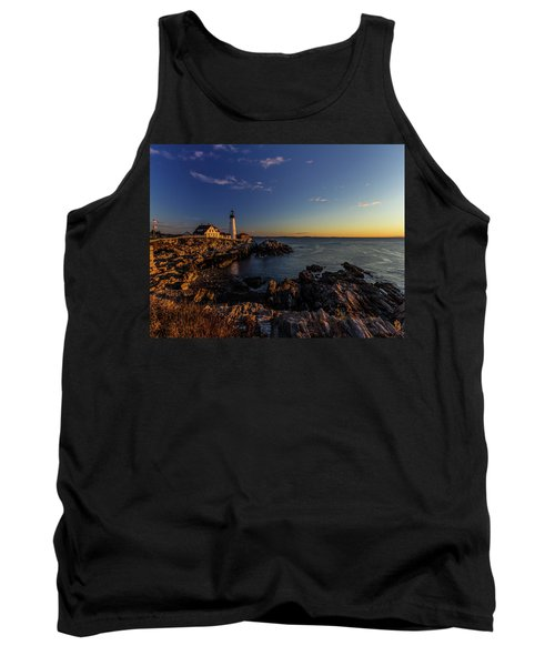 Sunrise At Portland Headlight Tank Top