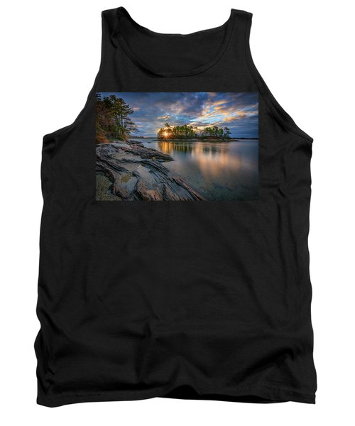 Tank Top featuring the photograph Sunrise At Wolfe's Neck Woods by Rick Berk