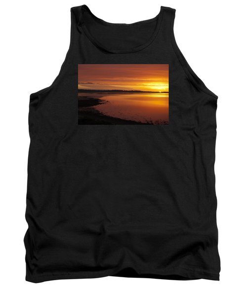 Tank Top featuring the photograph Sunrise Dornoch Firth Scotland by Sally Ross
