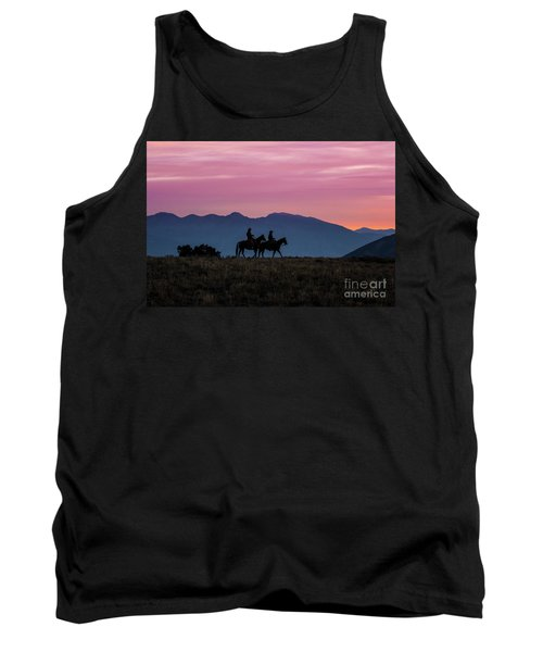 Sunrise In The Lost River Range Wild West Photography Art By Kay Tank Top