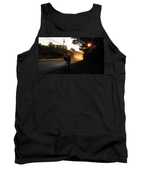 Sunrise On A Country Road Tank Top