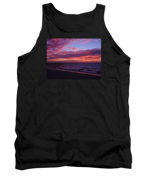 Sunrise On Sanibel Island Tank Top by Melinda Saminski