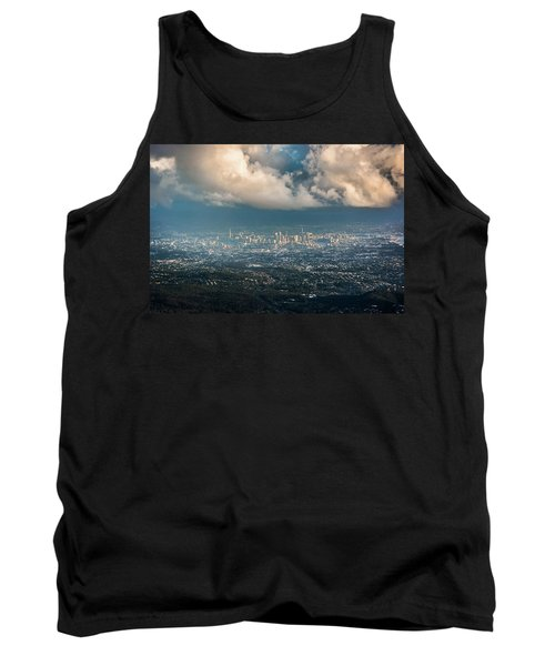 Tank Top featuring the photograph Sunrise Over A Cloudy Brisbane by Parker Cunningham
