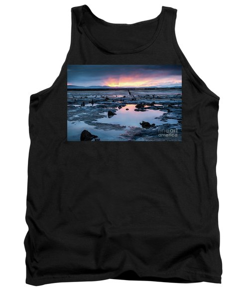 Sunrise Over The Bronze Age Sunken Forest At Borth On The West Wales Coast Uk Tank Top
