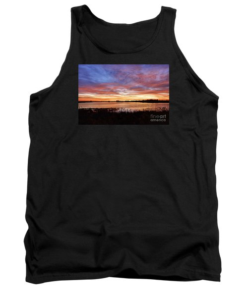 Tank Top featuring the photograph Sunrise Over The Marsh by Larry Ricker