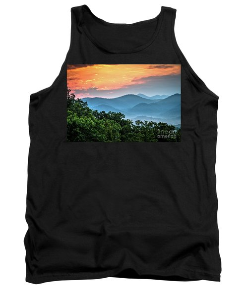 Tank Top featuring the photograph Sunrise Over The Smoky's by Douglas Stucky