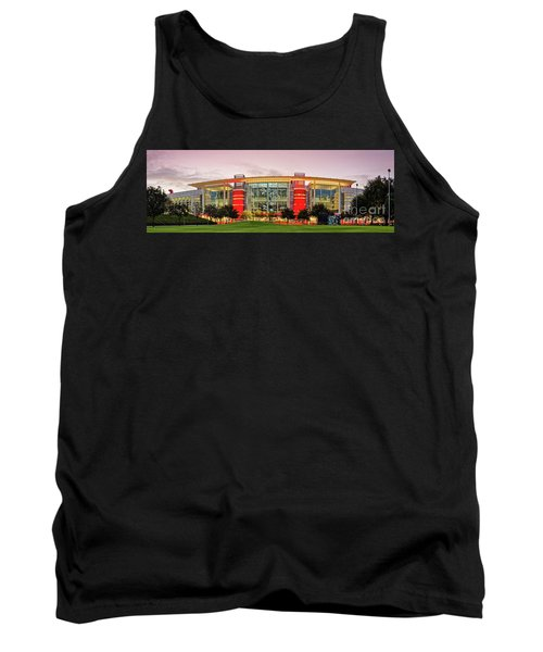 Sunrise Panorama Of George R Brown Convention Center In Downtown Houston - Texas Tank Top