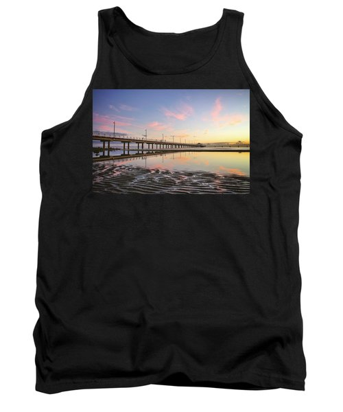 Sunrise Reflections At The Shorncliffe Pier Tank Top