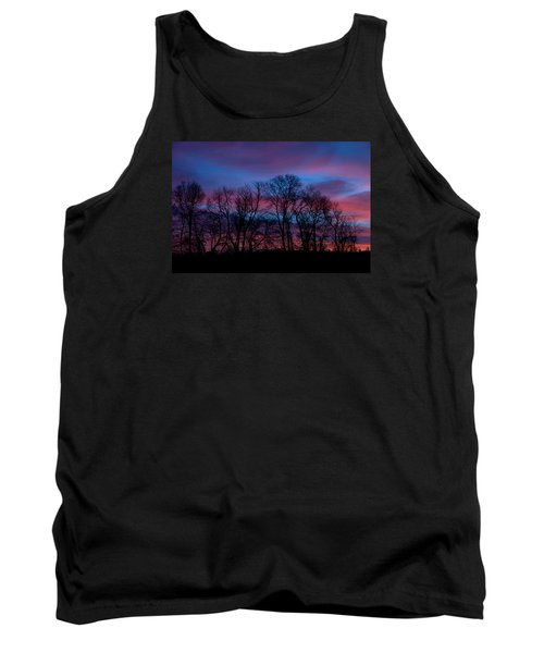 Sunrise Through Barren Trees Tank Top